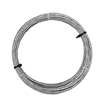 350 Ft Guy Wire Tension Cable Mast Antenna 20 GA 6 Stranded Steel Guy Wire Support Line 20 Gauge Guy Wire Cable Support Off-Air Aerial Mast Pipe Roof Mount, NAC Wire and Cables