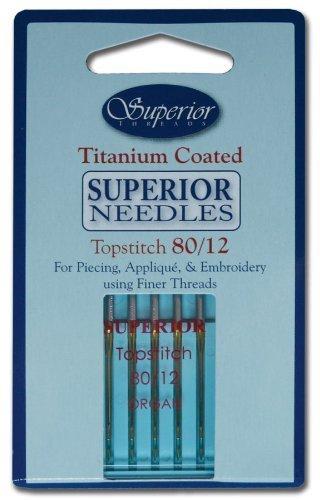 Superior Threads 1328012 5 Count Topstitch Machine Needle, (Needle 5 Thread)