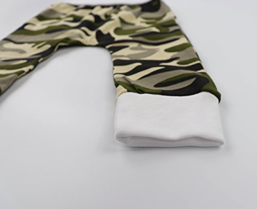 Baby Boy Clothes Little Man Letter Print Romper Camouflage Pants with Hat Outfits Set