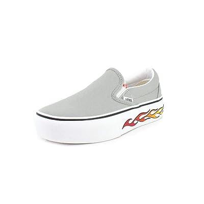 Vans Unisex Sidewall Flame Slip-On Platform Sneaker | Fashion Sneakers
