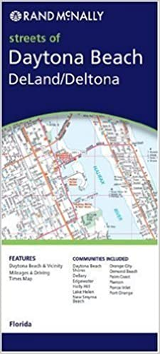 Ormond Beach Zip Code Map.Full Color Street Map Daytona Beach New Smyrna Beach Ormond Beach
