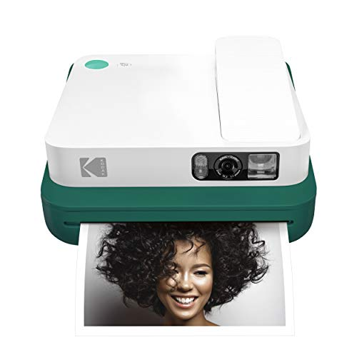 KODAK Smile Classic Digital Instant Camera with Bluetooth (Green) 16MP Pictures, 35 Prints Per Charge - Includes Starter Pack 3.5 x 4.25 Zink Photo Paper, Sticker Frames Edition (Classic Polaroid Camera Film)
