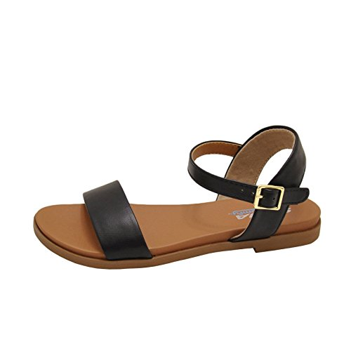 Meadow Sandals Open Toe Soda Women's Black Bw0qd7