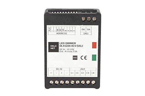 Dalcnet 1224-4CV DLX-Dali Regulador Led RGB RGBW Dali 4 Ch