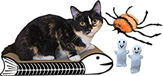 product image for Fishbone Halloween Cat Scratcher and Toy Kit