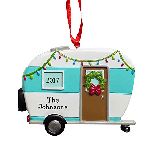 Happy Camper Personalized Ornament made our list of camping gifts couples will love and are the best gifts for couples who camp in tents or RVs including awesome gifts for people who love camping with their friends and families!