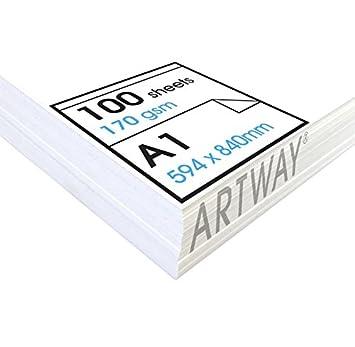 Artway Studio - Carta da disegno senza acidi - Singoli fogli ideali per uso a secco - 170g/m² - A2 Artway Ltd