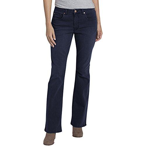 Dickies Premium Denim - Dickies Women's Perfect Shape Denim Jean-Bootcut Stretch, Rinsed Indigo Blue, 10RG