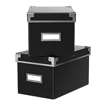 Aufbewahrungsbox Mit Deckel Ikea ikea aufbewahrungsbox kassett 2er set regalkisten mit deckel und