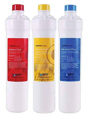 Watts Premier Annual 3 Pack Yearly Replacement Filter Set 1R-1Y-1B
