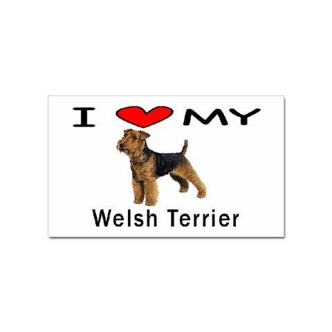 I Love My Welsh Terrier Rectangular Sticker
