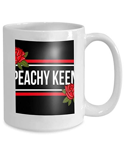 Embroidered Teacup - mug coffee tea cup fashion modern graphic print clothes lettering peachy keen embroidered red roses creative 110z