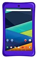 Prestige ELITE A8Qi - 8-inch IPS INTEL AtomX3 QuadCore 16GB Android 5.1 Lollipop Tablet with Safety Bumper included - Purple
