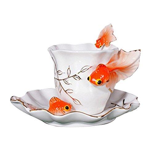 choholete-porcelain-coffee-cup-set-vivacious-goldfish-1-cup-1-saucer-1-spoon-orange