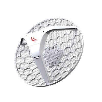 Mikrotik LHG 5 Light Head Grid 5 GHz, Integrated Dual Polarization 24.5 dBi Grid Antenna - US Version by Mikrotik