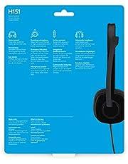 Logitech H151 Stereo Headset, Single Jake - 981-000589