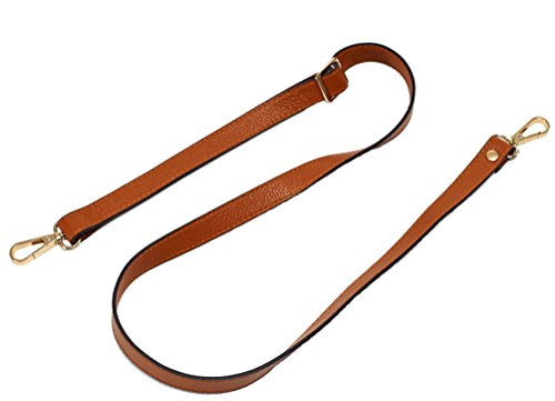 18MM Width Leather Adjustable Length Replacement Cross Body Purse Handbag Bag Shoulder Bag Wallet Strap (Brown) ()