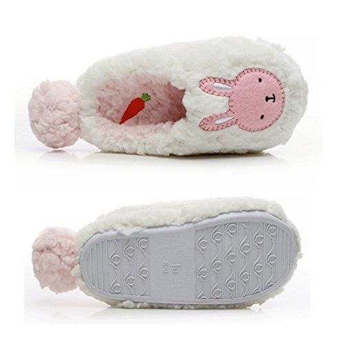 ABCmall Womens Novelty Plush Classic Bunny Slippers Beige Bear TuSmqDtC