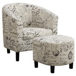 Great Janes Gallerie Off White Accent Chair (900210)