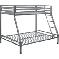 Your Zone premium twin-over-full bunk bed,Silver