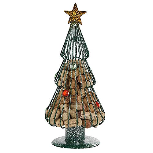 Christmas Tree Cork Caddy Cage Displays And Stores Wine Corks by Picnic Plus Holds up to 70 Corks