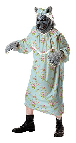 [Totally Ghoul Wolf Granny Costume, One Size Fits Most] (Big Bad Wolf Costume Granny)