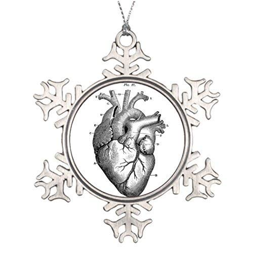 EvelynDavid Snowflake Ornament Tree Branch Decoration Anatomy-Heart-Images-Vintage Pictures Christmas Trees Decorated