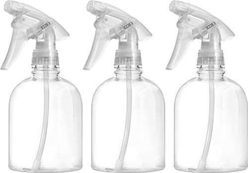 Bar5F Empty Clear Spray Bottle 16 oz. Adjustable Head Sprayer from Fine to Stream (Pack of 3) ()