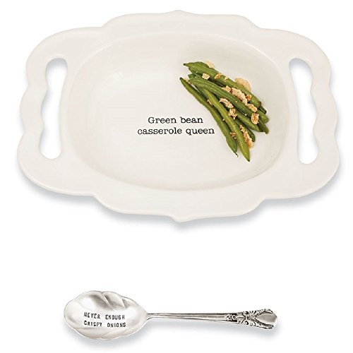 - Green Bean Casserole Serving Dish and Spoon Set, 9 1/2