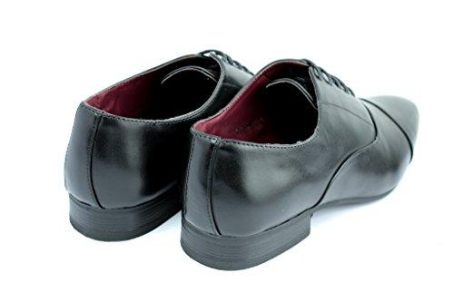 CABALLEROS Zapatos Formales oxford trabajo BODA ENCAJE Inteligente Oficina Tamaño RU Negro