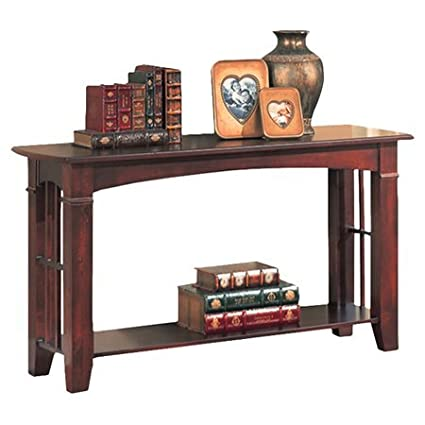 Amazon Com Console Table Made Of Wood Veneers And Solids Mission