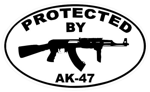 1 Pc Overwhelming Unique Protected By Ar 47 Sticker Signs Windows Decal Surveillance Home Trespassing Alert Video Hr Decals House Neighbor Warning Business Burglar Sign Outdoor Lawn Pole Size 3 5 X5