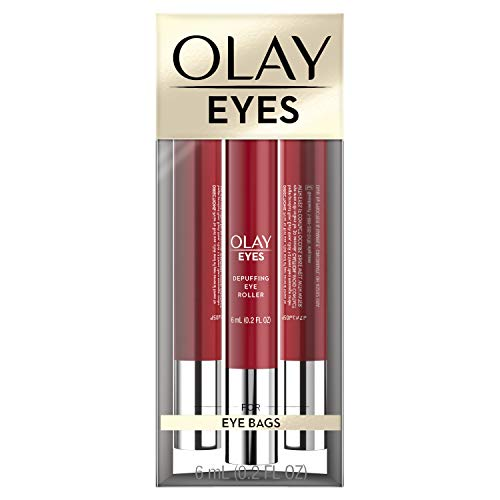 41BgsCFc01L - Eye Treatment by Olay Eyes Depuffing Eye Roller with Vitamin E Massages to Help Reduce Puffiness and Instantly Awaken Tired-Looking Eyes, 0.2 Fl Oz Packaging may Vary