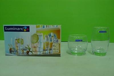 Luminarc Salto 20-Piece Drinkware Set (10 Coolers + 10 On The Rocks Drinking Glasses)