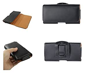 DFV mobile - Case belt clip synthetic leather horizontal smooth for > sunstech usun200, color negro