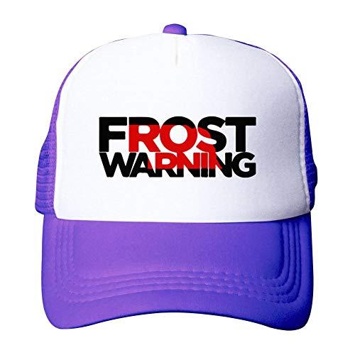 Heiazha Hipster Printed Adult Cap,Scott Frost Warning Nebraska Husker Football Mesh Fitted Hats Snapback Cap for Men Women Purple]()