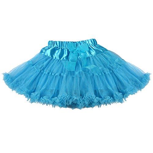 LCLHB Baby Girls 2T-4T Blue Skirt Fluffy Tulle Pleated PrincessTutu