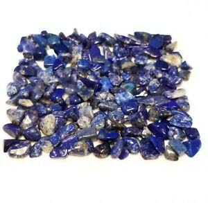 Embellishment Gem (57g Blue Lapis Lazuli Crystals Mini Tumbled Gemstones 2oz Embellishment stonesNatural Crystals & Rocks for Cabbing, Cutting, Lapidary, Tumbling, Polishing, Wire Wrapping, Wicca)