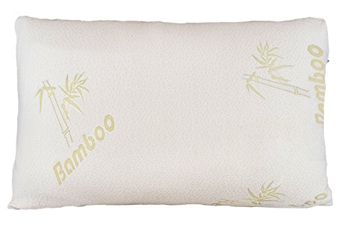 Relax Home Life - Firm Bamboo Pillow With Shredded Memory Foam and Stay Cool Removable Cover (Queen) (Washed Down Chino Pants)