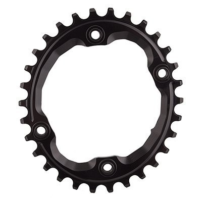 ABSOLUTE BLACK Shimano Oval Traction Chainring Black/96 BCD (M9000 XTR), 30t