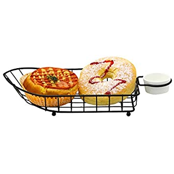 Mannily 2pcs Fry Cesta de Metal Cesta de la freidora con Forma de Barca Presente Frito Chip Alimentos, Cuadro de: Amazon.es: Hogar