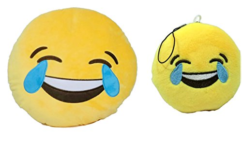Amazon.com: Emoji Pillow and Key Chain Set (Heart Eyes Pillow + Heart Eyes Key Chain): Home & Kitchen