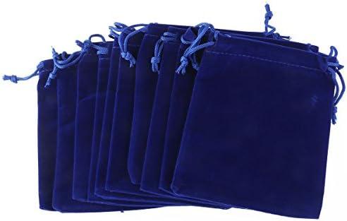 [해외]Frcolor 쥬얼리 파우치 건 착 봉투 액세서리 수납 주머니 벨 루어 조 선물 가방 쥬얼리 수납 소품 넣어 8 × 10cm 50 매 세트 / Frcolor Jewelry Pouch Purse Bag Accessories Storage Bag Velour Type Gift Bag Jewelry Storage Accessory 8×10cm ...