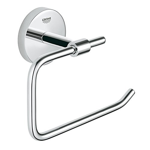 (Grohe 40457001 BauCosmopolitan Paper Holder without cover, Starlight)