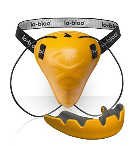 lo-bloo MMA Set (Save 15%) - Aerofit Male +16 MMA Cup/Groin Guard + Slick Orange Mouth Guard - Essential MMA Protective Gear - Perfect MMA Protective Training Set - Sparring Gear MMA Gifts for Men