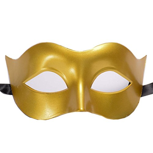 Botrong Halloween Masquerade Ball Mask for Girls Womens Dance Birthday Prom Party (Gold)