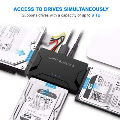3.0 to IDE | SATA Converter USB External Hard Drive Adapter Kit 2.5