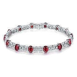 Diamond Ruby Bracelet for Women