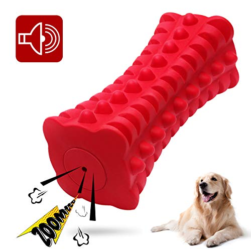 VANFINE Dog Squeaky Toys Dog chew Toys for Large Dogs Aggressive chewers Stick Squeaker Dog Chew Toy Puppy Chew Toys with Non-Toxic Natural Rubber Material for Pet Training, Teeth Cleaning, Playing