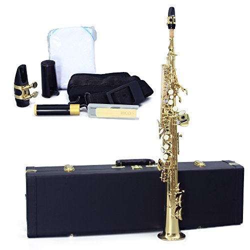 Legacy SS1000 Intermediate Soprano Saxophone with Case, Accessories and Mouthpiece